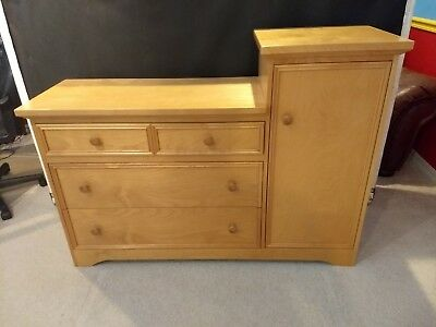 Baby Changing Table Set w storage + dresser & headboard solid woods Nice!