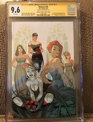 DC BATMAN #50 EXCLUSIVE Virgin Variant Cover C - SIGNED by ALE GARZA - CGC 9.6