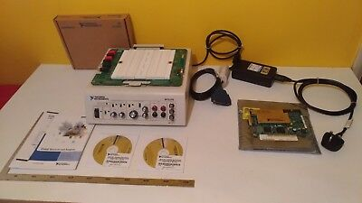 National Instruments NI ELVIS prototyping board with NI PCI-6251 PCI card