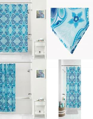 Mainstays Kids Boho Butterfly Coordinating Fabric Shower Curtain