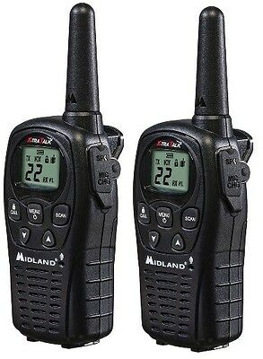 Midland GX20 GX-20 FRS GMRS Handheld 2-Way Walkie Talkie Radio