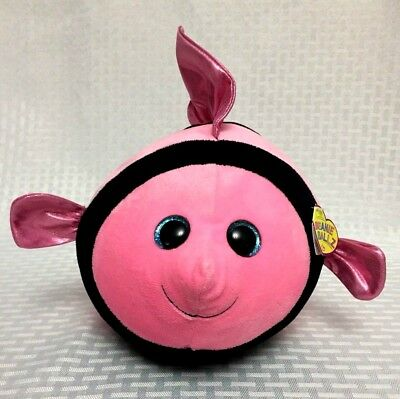 0f405f78ab8 TY Beanie Ballz Gilly Fish 2013 Pink and Black Tropical Stuffed Plush Animal