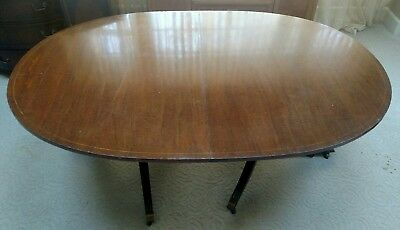 Dining Room Table 3 leaves Mahogany Cherry Vintage Antique Inlays 16 people