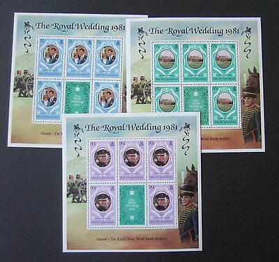Turks & Caicos 1981 Royal Wedding sheetlets MNH UM unmounted mint