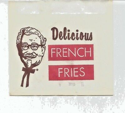 1950s/60s Five Colonel Sanders Kentucky Fried Chicken French Fry Bags - Old Ones