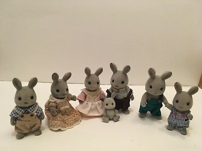 Sylvanian Rabbit Family bundle, used but in good condition