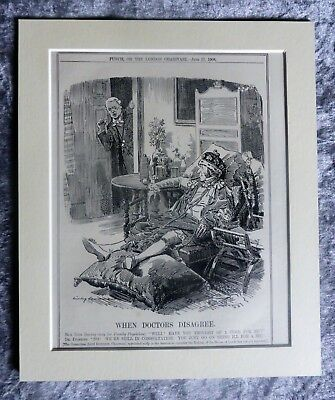 Vintage Punch Cartoon: House Of Lords At Death's Door Again, 1908.