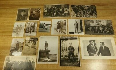 Vintage Military Photos lot of 16, Plane, Uniform, Greek Soldiers, WW2 Era, plus