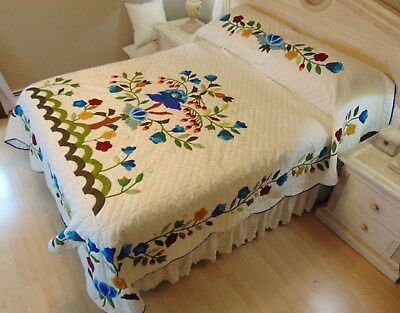 WOW! NEW! AMISH HANDMADE QUILT! ~ Tree of Life ~ 96 x 111