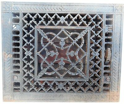 Antique Cast Iron Heat Grate Register Ornate Tuttle & Bailey Louvers Pat.1886