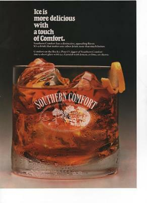 1988 - Southern Comfort - Ice Is More Delicious W/ Comfort - Vintage Print Ad