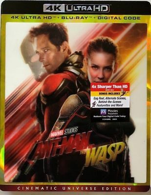 Ant-Man And The Wasp 4K Ultra Hd Blu-Ray Digital With Rare Lenticular Cover New