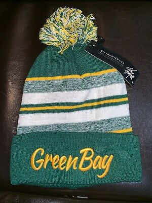 GREEN BAY PACKERS Winter Pom Hat / Beanie Great For Die Hard Fan 2018 Edition