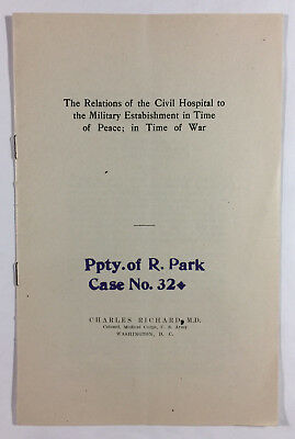 Civil Hospital and Military Establishment in Peace & War by Charles Richard 1912