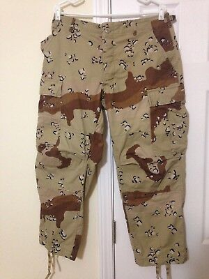 US Military Combat Desert Camouflage Pants Choc Chip Camo Trousers 1981 M/S