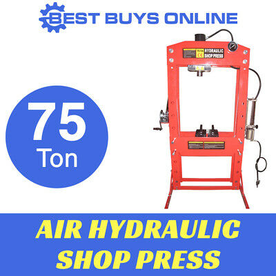 Shop Press 75 Ton Air Hydraulic Include Gauge & Foot Operated Pedal Sliding Head