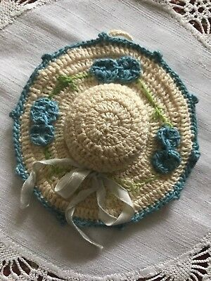 Vintage Hand Crocheted Hat Shaped Pin Cushion