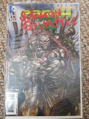 EARTH 2  #  15.2  /  SOLOMON GRUNDY 1.     DC THE NEW 52.  DC. 2012 3D Variant