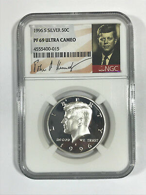 1996-S Kennedy Silver Half Dollar Graded PF 69 ULTRA CAMEO by NGC