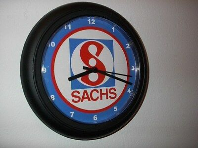 Sachs Motorcycle Logo Garage Advertising Man Cave Wall Clock Sign