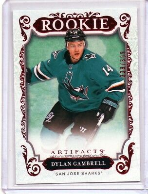 2018-19 Artifacts Ruby #169 Dylan Gambrell 339/399