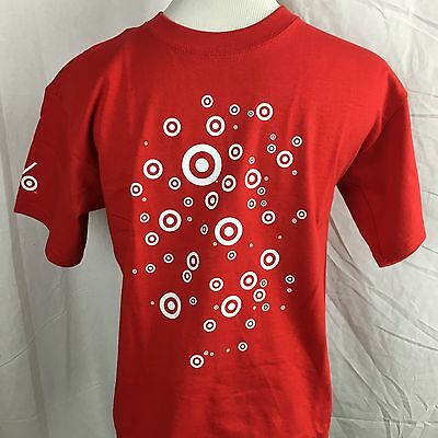 Target Store Red Bullseye Volunteer T-Shirt Short Sleeve Size YOUTH Medium M NEW