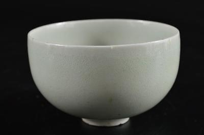 G1266: Japanese Old Imari-ware Celadon TEA BOWL Green tea tool Tea Ceremony