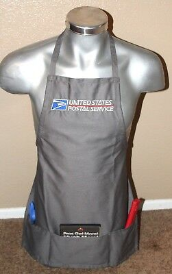 USPS Postal Apron With Postal Logo Embroidered on Front Adjustable with Pockets