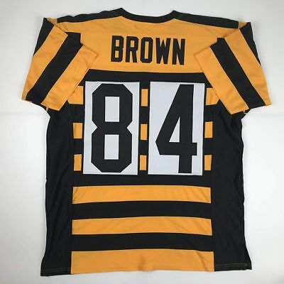 0b1d8f9d9 New ANTONIO BROWN Pittsburgh Bumble Bee Custom Stitched Football Jersey  Men s XL