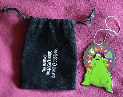Disneyland Nightmare Before Christmas OOGIE ORNAMENT with velvet pouch - Disney
