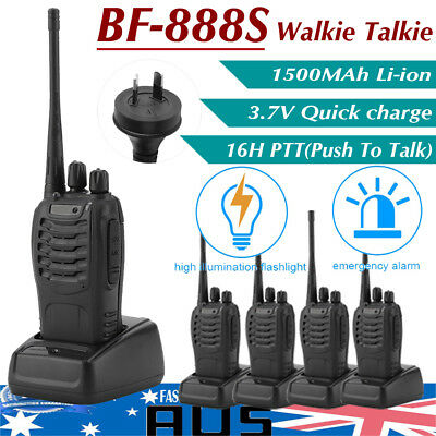 1/2x/4x Walkie Talkie UHF/VHF 65-480MHz 5W 128CH UV-5R Portable Two-Way Radio AU