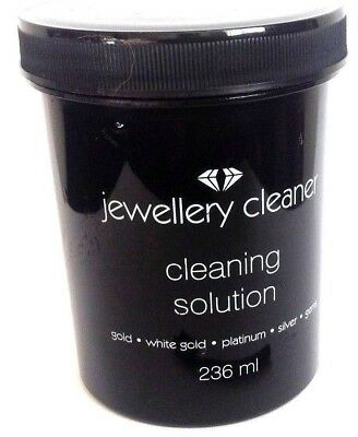 Jewellery Cleaner Liquid Cleaning Solution Gold/Silver/Gems/Platinum 236 ml