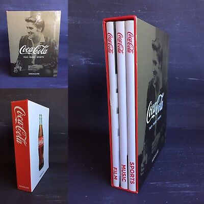 Coca Cola Set of 3 Hard cover Books Film Music Sports by Scott Ridley assouline