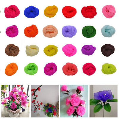 5Pcs 2.3M Nylon Stocking For Making Artificial Mesh Flower Arrangement Stamens
