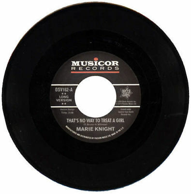 Marie Knight No Way To Treat  A Girl/Lie So Well Northern Soul Reissue Listen