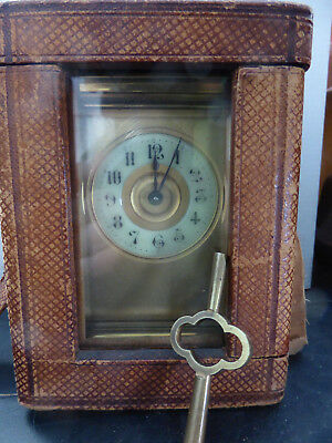 Victorian Masked Carriage Clock With Platform Escapement And Case