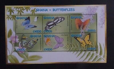 Ghana 2002 Butterflies Butterfly Moths Insects MS3338 UM MNH unmounted mint