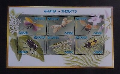 Ghana 2002 Butterflies Butterfly Moths Insects MS3339 UM MNH unmounted mint