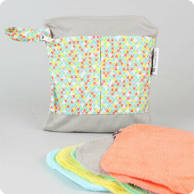Close Bamboo Washable Wipes | Pack of coloured reusable bamboo baby wipes
