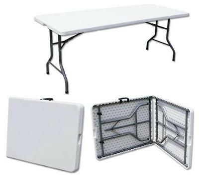 6FT CATERING CAMPING HEAVY DUTY FOLDING TABLE TRESTLE PICNIC PARTY BBQ 1.8 Meter