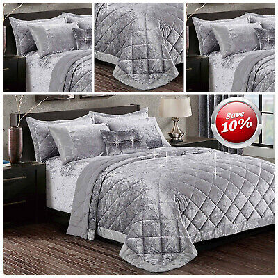 Luxury Valvet 3 Piece Quilted Bedspread Comforter Set With Matching Pillow Cases