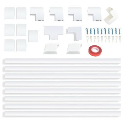 Cable Cover Cord Wire Organizer Management Wall Kit Raceway Hide Cables White