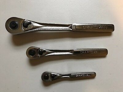 """Craftsman Ratchets Set Of 3 """"Made In The Usa"""""""