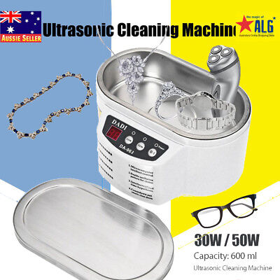 30W 50W Mini Ultrasonic Cleaner Bath For Cleaning Necklace Glasses Board RS