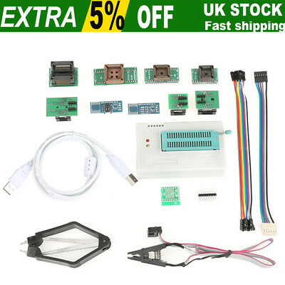 USB Programmer for TL866II Plus EEPROM FLASH 8051 AVR MCU GAL PIC With Adapters