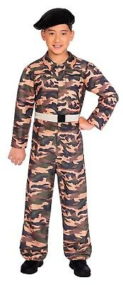 459f55014 BOYS CAMO ARMY Military Soldier Uniform Fancy Dress Costume Outfit 4 ...