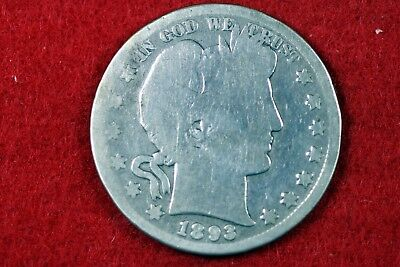 Estate Find 1893 - S BARBER Half Dollar!!   #H13960