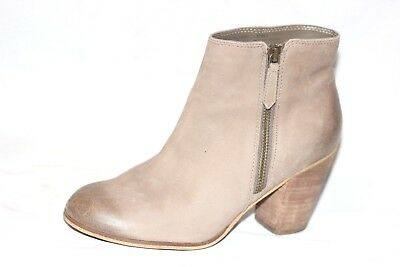 345695a7590 SKECHERS WOMENS BROWN Leather suede Stacked Heel Ankle Booties boots ...