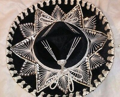 Childs Sombrero BLACK sequence Excellent condition.Belri Hat.BELRO. MADE IN MEXI