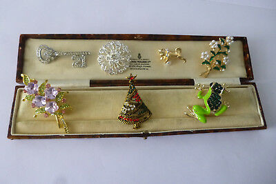 Vintage Jewellery A Stylish Mixed Job Lot Of Brooches Pins Various Eras
